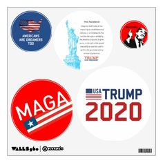 Trump 2020 for president USA flag set wall decals  $16.75  by Kekistan  - custom gift idea