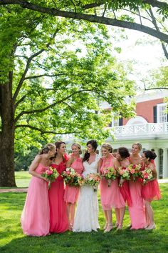 bridesmaids dresses.. except in orange! @Amelia Daniels