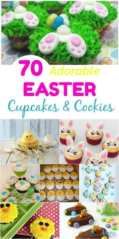 70 adorable Easter cupcakes Cookies that bring a smile Best Picture For Easter Recipes Dessert videos For Your Taste You are looking for something, an Easter Deserts, Easter Snacks, Easter Appetizers, Easter Treats, Easter Recipes, Easter Food, Easter Dishes, Easter Stuff, Hoppy Easter