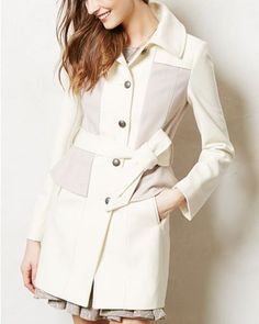 Anthropologie - Colette Trench from Anthropologie. Saved to Epic Wishlist. Shop more products from Anthropologie on Wanelo. White Trench Coat, White Coats, Trench Jacket, Dress To Impress, What To Wear, Style Me, Look, Anthropologie, Winter Fashion