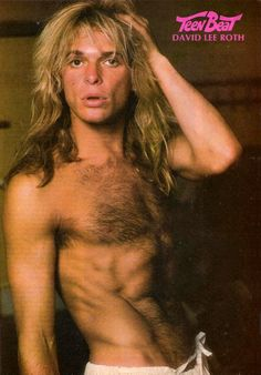 David Lee Roth on the cover of 'Teen Beat' magazine David Lee Roth, Alex Van Halen, Eddie Van Halen, 80s Music, Rock Music, 80s Hair Bands, Tiger Beat, Hard Rock, Rock And Roll