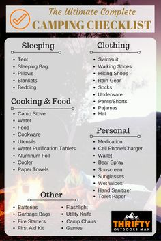 The Ultimate Complete Camping Checklist
