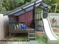 A perfect spot for this cubby! Cubby House Kits, Cubby Houses, Play Houses, Backyard Swings, Backyard Playground, Backyard For Kids, Outdoor Areas, Outdoor Play, Outdoor Decor