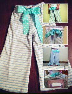 toddler lounge pants DIY. Could make matching mommy pants?