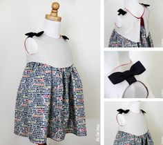 Madeline Dress ePattern - looks like simple dress with a backwards over jacket sewed on!