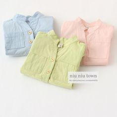 00018 TJ-6J199 Free shipping 5 pcs/lot Wholesale Kids 3-color cotton shirt small collar shirt in Europe and America http://www.aliexpress.com/store/1047972
