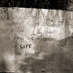 The meaning of life? Pto London - streetart