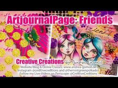 Artjournal Challenge – Friendship Artjournal Page incl. Video Tutorial » Creative Creations by Andrea Gomoll