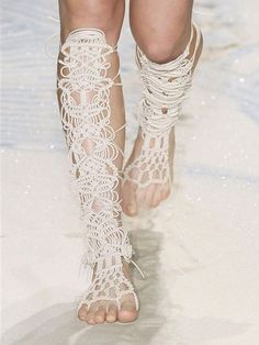 macrame barefoot sandals