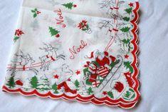 I LOVE vintage Christmas hankies!