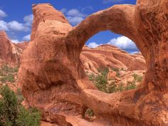 Utah is known for its impossible canyons and rock formations. Arches National Park in Eastern Utah is one of the most impressive. Here, natural sandstone arches, formed over millions of years when salt beds covered the area, create an amazing orange brown landscape. The area has a rich history as well as fascinating geology, it was home to the Ute and Paiute tribes. Ute petroglyphs from around 250 years ago can still be seen today.