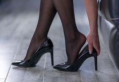 Nothingsqueen94 Nylons, Pantyhose Heels, Girls Heels, Black Stockings, Sexy Older Women, Black High Heels, Court Shoes, Girls Wear, Stiletto Heels