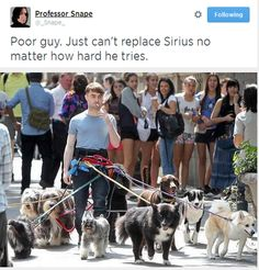 Poor guy, can't replace Sirius no matter how hard he tries.