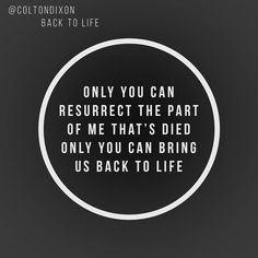 """Back To Life"" by Colton Dixon"
