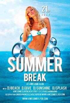 Summer Break Flyer Template https://noobworx.com/store/summer-break-flyer-template/?utm_campaign=coschedule&utm_source=pinterest&utm_medium=NoobWorx&utm_content=Summer%20Break%20Flyer%20Template #free #flyer #template
