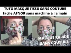 TUTO MASQUE AFNOR SANS COUTURE FACILE RAPIDE - YouTube