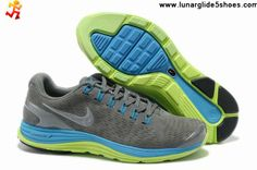 83c3320e7134f Low Price Mens Nike LunarGlide 4 Suede Grey Blue Glow Silver Running Shoes  Shoes Shop