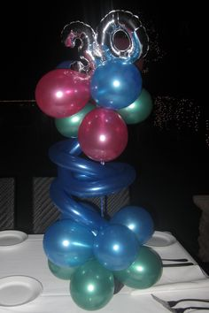30th birthday party centerpieces