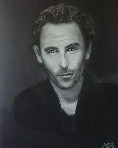 Pastelportret Franse acteur A3 formaat Abraham Lincoln, Art, Art Background, Kunst, Art Education