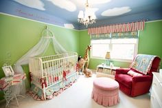 gender neutral nursery Love how all colors are incorporated!