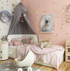 Cool Kids Bedrooms, Cool Rooms, Girls Bedroom, Nursery Room Decor, Bedroom Decor, Room Planning, Little Girl Rooms, Plaid Rose, Rose Gris