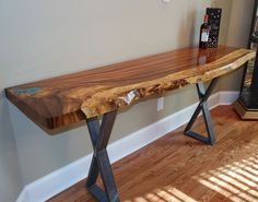 33 Fabulous Wooden Furniture Design Ideas Best For Your Home Decoration - If you're looking for new furniture for your home, then you're probably considering wooden furniture, such as dining sets, beds and wardrobes. Live Edge Furniture, At Home Furniture Store, Metal Furniture, Home Decor Furniture, Rustic Furniture, Cool Furniture, Furniture Design, Natural Wood Furniture, Furniture Showroom