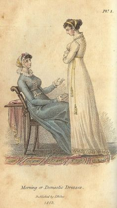 Mirror of the Graces, Morning or Domestic Dresses, 1813. Take away the ruffle collar and I'm all for it.