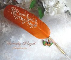 BUTTERFLY Magick Totem Feather Quill Pen by EnchantedQuills