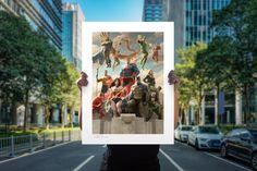 Justice League Team - Classic Variant Fine Art Print by Paolo Rivera | Sideshow Fine Art Prints Justice League Team, Canvas Art Prints, Fine Art Prints, Green Lantern Hal Jordan, Plastic Man, The Valiant, Living In San Francisco, Martian Manhunter, Dc Comics Art