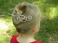 Silver Hair Slide, Hair Styles, Hair Barrette, Silver Hair Clip, Women, Hair Accessories, Hair Sticks, Hair Pin, Bridal Hair, Wedding, Bun on Etsy, $22.50
