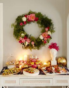 fresh flower wreath DIY