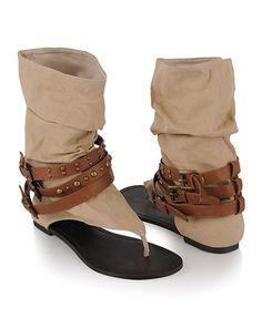 Spartacus Canvas Sandals - StyleSays