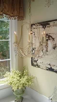 rustic and pretty - breath taking !  (see this in a bathroom)