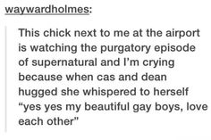 Did you mean: Every Destiel fangirl EVER?!?!?!