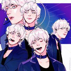 Cre: the owner/as logo Fanart Bts, Taehyung Fanart, V Taehyung, Jimin, Vkook Memes, Le Talent, Bts Twt, Bts Drawings, Bts Chibi