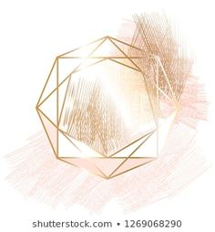 Golden outline crystal, rose, nude and gold hatching on a white background. Wallpaper Iphone Cute, Flower Wallpaper, Cute Wallpapers, Glitter Background, Geometric Background, Jewelry Store Design, Instagram Background, Luxury Logo, Story Instagram