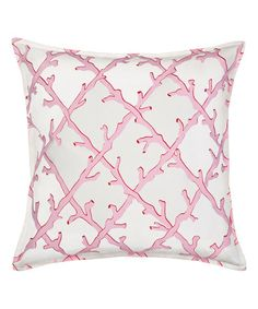Another great find on #zulily! Pink Lattice Canvas Throw Pillow #zulilyfinds