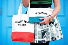 MY DIY | Quote Tote & Clutch | I SPY DIY