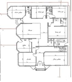 مخطط دور واحد مساحة 400 2bhk House Plan, Model House Plan, Simple House Plans, House Layout Plans, Family House Plans, Dream House Plans, House Layouts, Home Map Design, Home Design Floor Plans