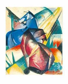 Franz Marc - Zwei Pferde, rot und blau, 1912