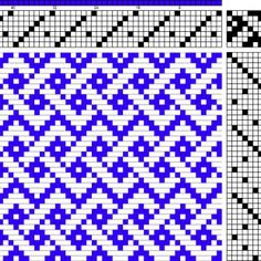 Simplified Celtic Braid - weaving draft. This would make a neat quilt