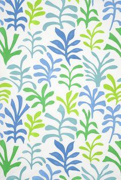 Lulu DK Ode to Matisse Leaf Ocean - Lynn Chalk