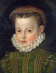 Elisabeth von Österreich, die hübsche zweite Tochter von Kaiser Maximilian II.Geboren am:  5.6.1554 Gestorben am:  22.1.1592 Vater:  Kaiser Maximilian II. (1527-1576) Mutter:  Maria (1528-1603), eine Tochter von Kaiser Karl V. († 1558) Gatte:  König Karl IX. von Frankreich († 1574), Heirat am 26.11.1570 Kind:  Elisabeth Marie (oder Marie Elisabeth), geboren am 27.10.1572, gestorben am 2.4.1578