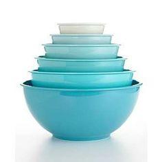 Macy*s - Martha Stewart Collection - Martha Stewart Collection 6-Piece Blue Melamine Bowl Set