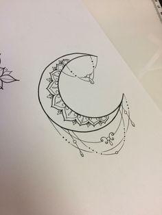 Hamsa Tattoo, Tatto Ink, Nail Tattoo, Mandala Tattoo, Mini Tattoos, Dainty Tattoos, Back Tattoos, Tatoos, Cresent Moon Drawing