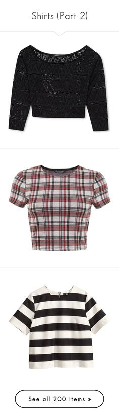 """Shirts (Part 2)"" by solahr ❤ liked on Polyvore featuring tops, shirts, crop tops, forever 21 tops, shirt top, three quarter sleeve shirts, forever 21, 3/4 length sleeve shirts, blusas and clearance"