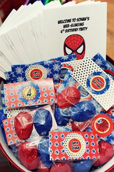 The Party Wall: Spiderman Birthday Make crayons with candy molds #spiderman #party