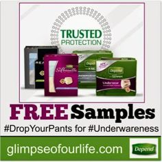 a glimpse of our life: Depend on Protection and Try a FREE Sample! #underwareness #sponsored