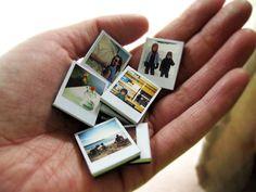 Tiny Polaroid Snapshot Magnets  - DIY - Here -  http://www.ambrosiagirl.com/blog/tiny-polaroid-magnets/