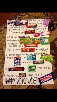 Valentine's Day Candy Poster